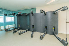 Modern gym with various sports equipment Royalty Free Stock Photography