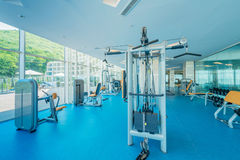 Modern gym with various sports equipment Royalty Free Stock Photos