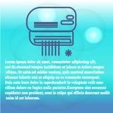 Modern hårbalsam med illustrationen för vektor för flöde för kall luft den hemmastadda, annonseringbanermallen eller bakgrund kli vektor illustrationer
