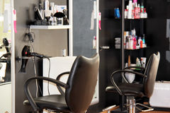 Modern hårsalong Royaltyfria Bilder