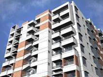 Modern hög stigningsbyggnad Arkivbilder