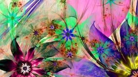 Modern hög upplösningsblommabakgrund i vibrerande färger Royaltyfria Foton