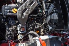 Modern högteknologisk motor eller motor av den industriella laddaren eller sammanslutningmedlet, bästa sikt Royaltyfri Foto