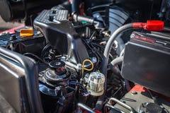 Modern högteknologisk motor eller motor av det industriella laddar- eller sammanslutningmedlet eller den lilla traktoren Royaltyfria Bilder