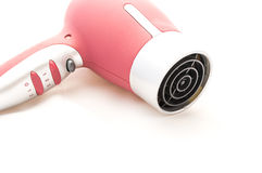 Fashion woman hair dryer Royalty Free Stock Photo
