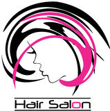 Modern Hair Salon Logo Royalty Free Stock Photography