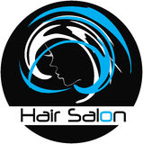 Modern Hair Salon Logo Stock Photography
