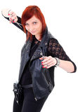 Modern hairdresser woman Royalty Free Stock Photo