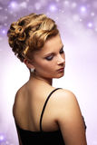 Modern hairstyle Stock Images