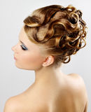 Modern hairstyle. Stock Image