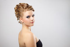 Modern hairstyle. Stock Photo