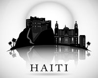 Modern Haiti Skyline Design. vector silhouette Royalty Free Stock Images
