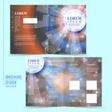 Modern half-fold template design Royalty Free Stock Photos