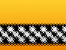 Modern halftone checkered banner Royalty Free Stock Photography