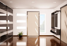 Modern hall 3d render Royalty Free Stock Photo