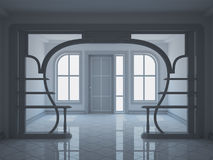 Modern hall with decorative partition Stock Photography