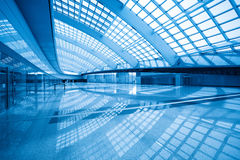 Modern hall inside in the beijing airfield. Modern hall inside in airport express station at beijing terminal 3 stock image