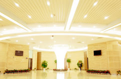 Modern hall inside office center Royalty Free Stock Photos
