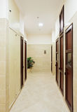 Modern hall interior with many doors Royalty Free Stock Image