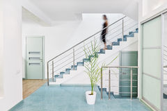 Modern hall interior in minimalism style Stock Photography