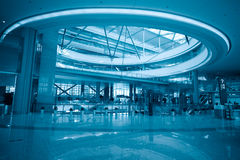 Modern hall in transportation hub Stock Images