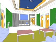 Modern Hall Vector 06 Stock Photo