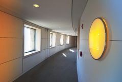 Modern hallway. Empty modern hallway with circular light Royalty Free Stock Images