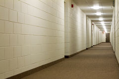Modern Hallway. In new building Stock Photography