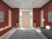 Modern hallway front door interior Royalty Free Stock Photos