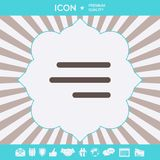 Modern hamburger menu icon for mobile apps and websites. Graphic elements for your design. Modern hamburger menu icon for mobile apps and websites royalty free illustration