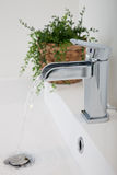 Modern hand basin in a restroom Royalty Free Stock Photo