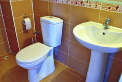 Modern hand basin and toilet Stock Photo