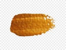 Texture golden brush. Modern Hand drawing gold brush. Golden paint. Handmade abstract glittering spot. Textured stroke stain. Luxurious Art smear. Sparkle Stock Photos