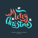 Modern hand drawn lettering phrase Merry Christmas. 2017. Merry Christmas and Happy New Year. Modern hand drawn lettering phrase. Calligraphy brush and ink Stock Photos