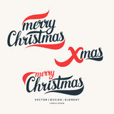 Modern hand drawn lettering phrase Merry Christmas. 2017. Merry Christmas and Happy New Year. Modern hand drawn lettering phrase. Calligraphy brush and ink vector illustration