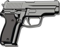 Modern hand gun (pistol) Royalty Free Stock Images
