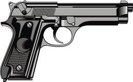 Modern handkanon (pistool) stock illustratie