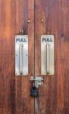 Modern handle door with lock Stock Photo