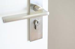 Modern Handle steel knob on the door Royalty Free Stock Images