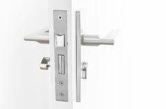 Modern Handle steel knob on the door Royalty Free Stock Photos