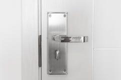 Modern Handle steel knob on the door Royalty Free Stock Image