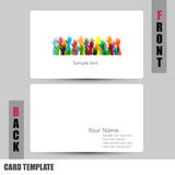Modern hands of different colors concept Business-Card Set Stock Photography