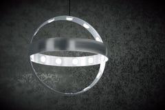 Modern hanging lamp-chandelier Stock Photo
