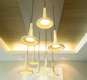 Modern hanging lamps Stock Photos