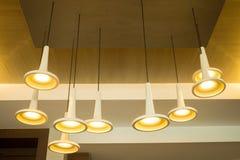 Modern hanging lamps Royalty Free Stock Image