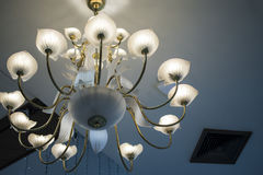 The Modern hanging lighting fixtures Royalty Free Stock Images
