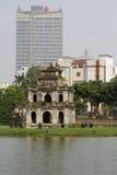 Modern Hanoi and old Hanoi Royalty Free Stock Photography
