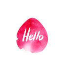 Modern Happy Easter template for greeting card or invitation design with bright egg and watercolor splash. Happy Easter greeting card. Modern Happy Easter stock images
