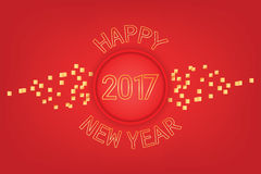 Modern Happy New Year Red & golden combination Royalty Free Stock Image