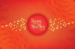 Modern Happy New Year Red & golden combination with abstract background Stock Image